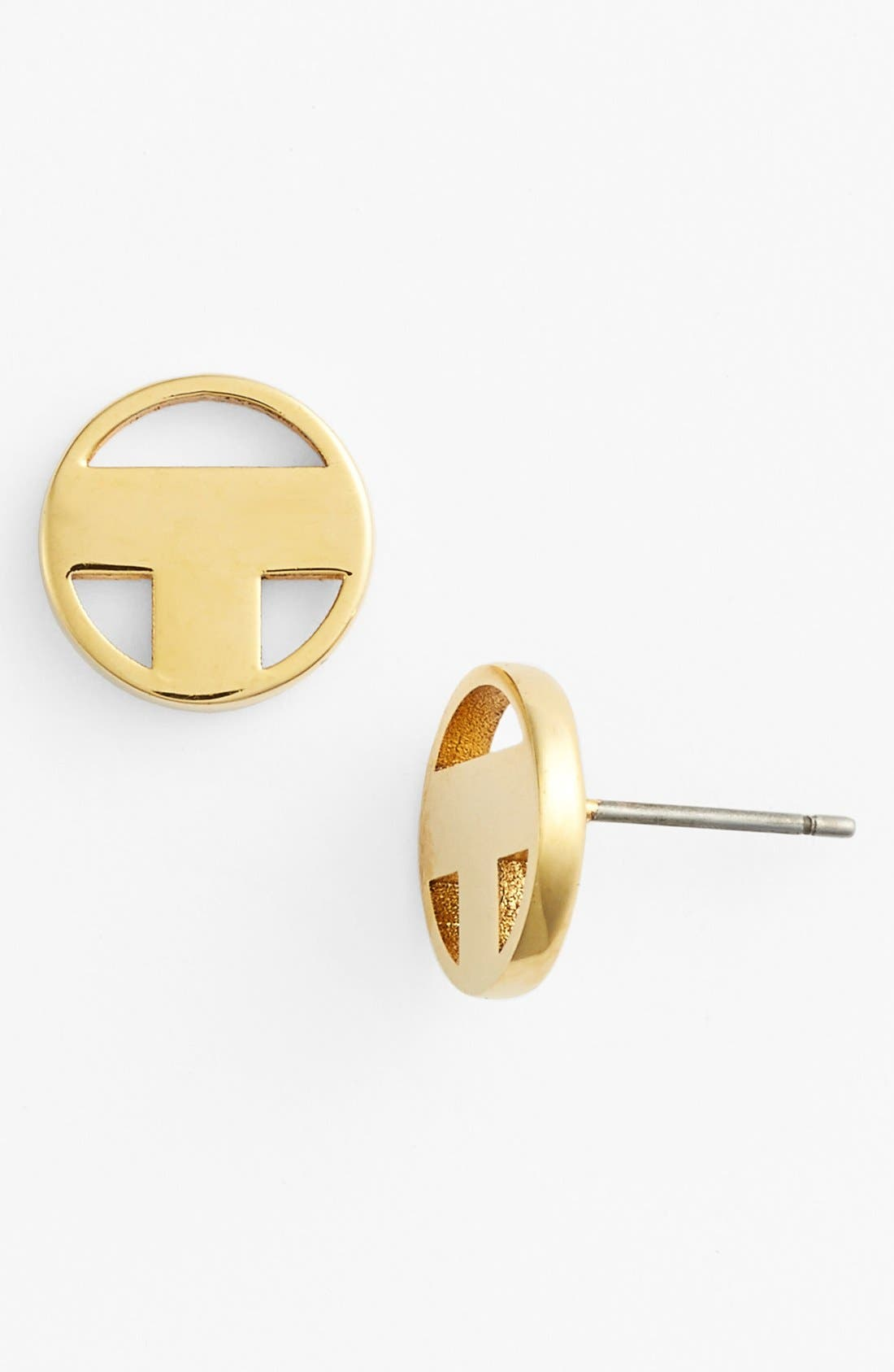 Alternate Image 1 Selected - Tory Burch Logo Stud Earrings