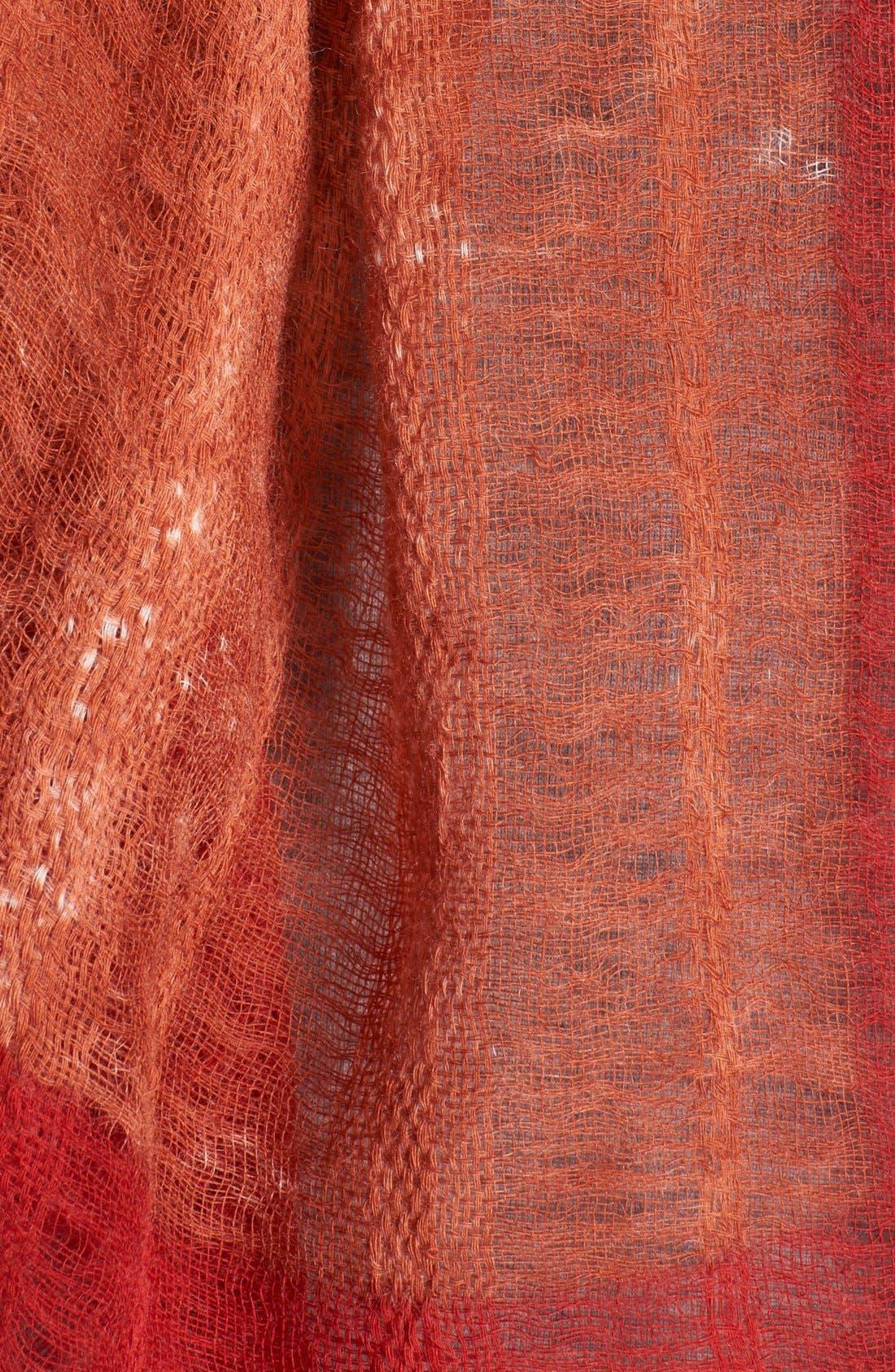 Alternate Image 2  - Eileen Fisher Two-Tone Wool Scarf (Regular & Petite)