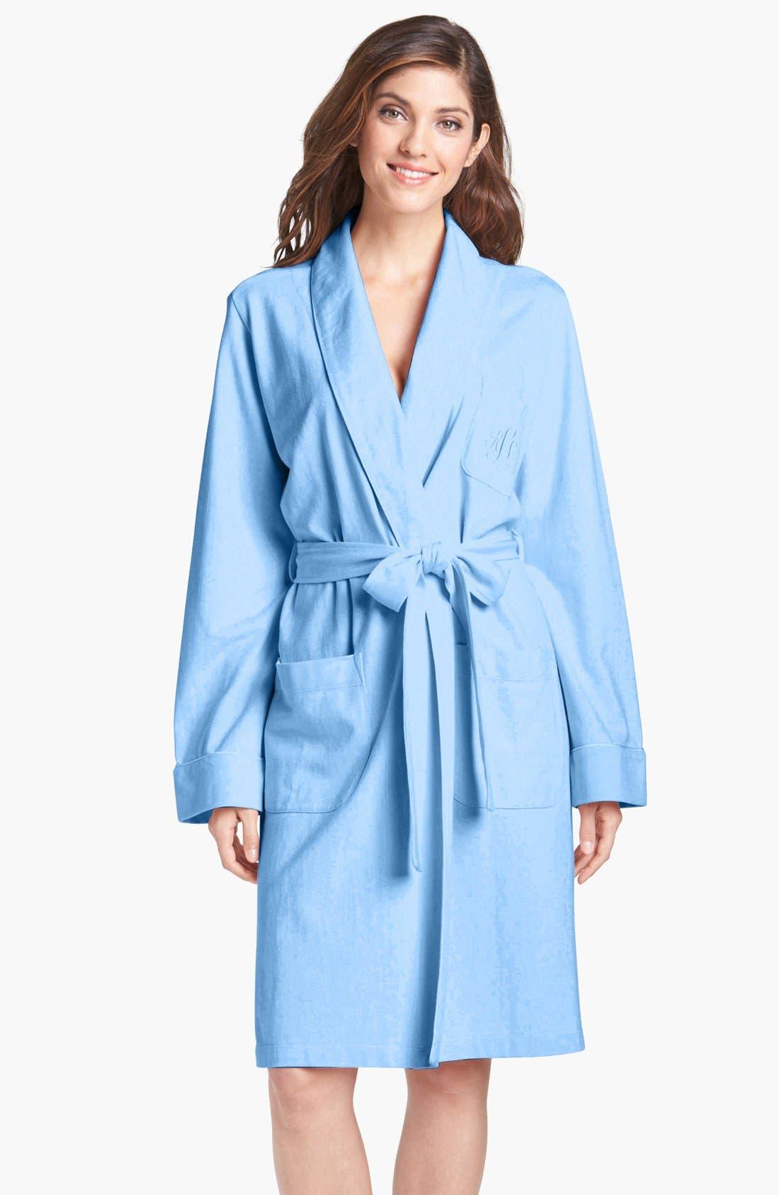Alternate Image 1 Selected - Lauren Ralph Lauren Short Shawl Collar Robe