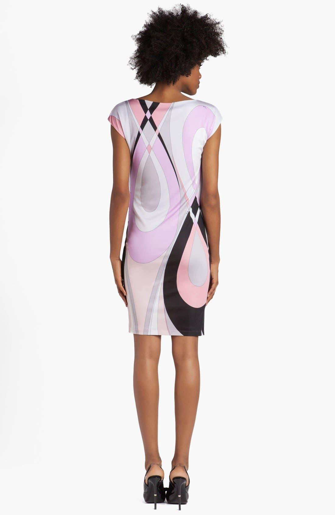 Alternate Image 2  - Emilio Pucci 'Otto Print' Cap Sleeve Jersey Dress