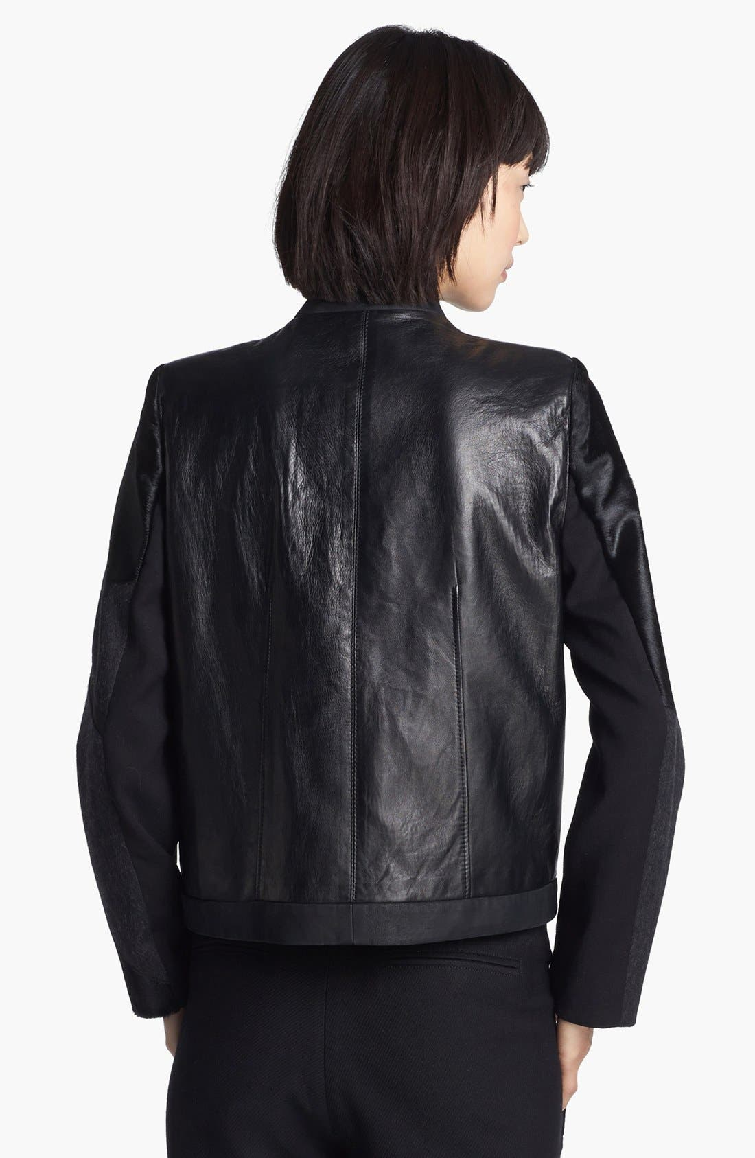 Alternate Image 3  - Helmut Lang Genuine Calf Hair & Leather Jacket
