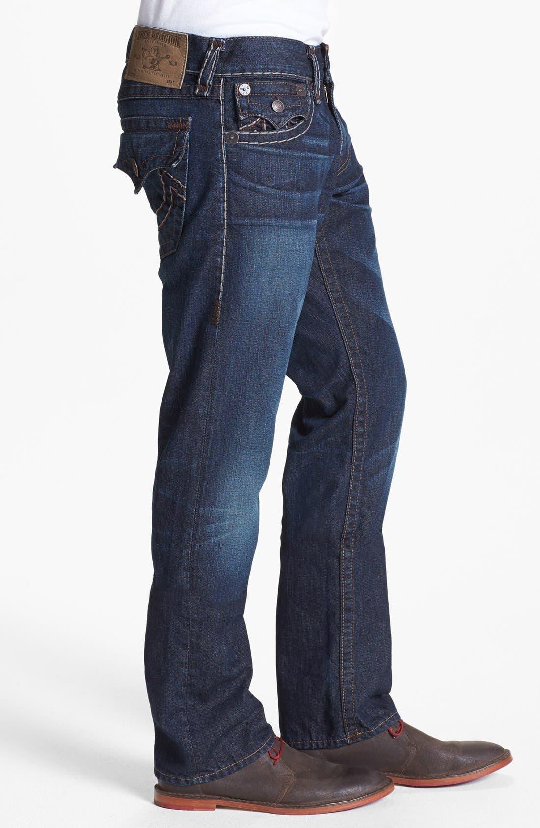 Alternate Image 3  - True Religion Brand Jeans 'Ricky' Straight Leg Jeans (Retribution)