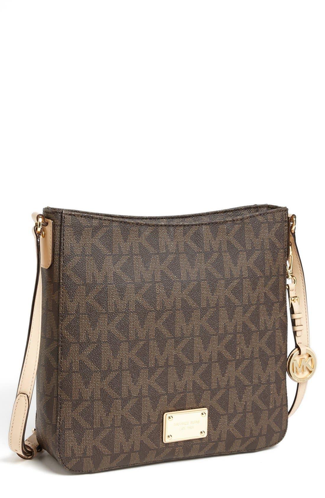 Alternate Image 1 Selected - MICHAEL Michael Kors 'Jet Set Signature - Large' Messenger Bag