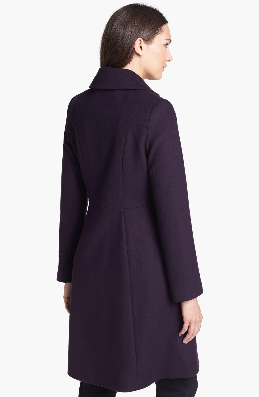 Alternate Image 2  - Kristen Blake Fit & Flare Wool Blend Coat (Nordstrom Exclusive)