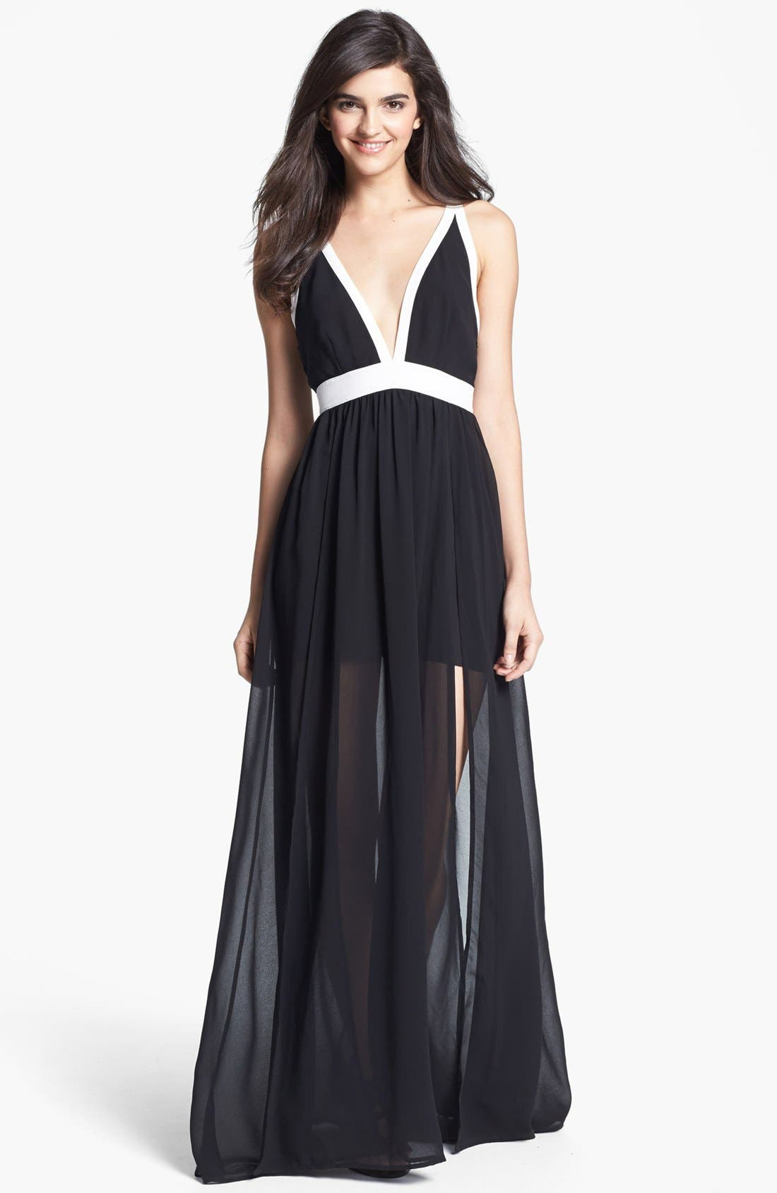 Main Image - Keepsake the Label 'Eyes Wide Open' Contrast Trim Maxi Dress