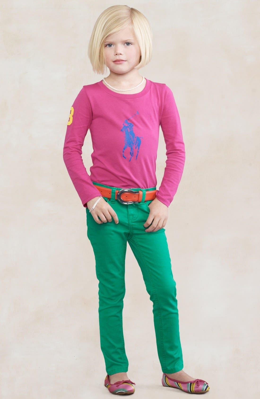 Alternate Image 2  - Ralph Lauren Pima Cotton Tee (Toddler Girls)