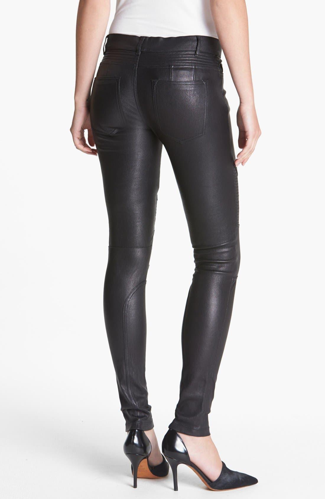 Alternate Image 2  - Vince Leather Moto Pants