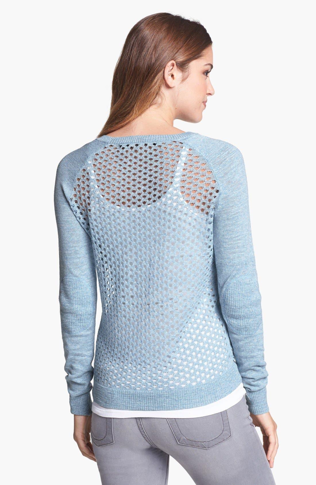 Alternate Image 2  - kensie Open Knit Raglan Sweater