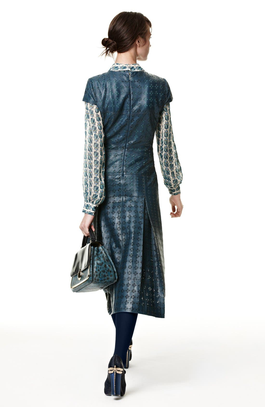 Main Image - Tory Burch Leather Midi Dress, Blouse, & Pump