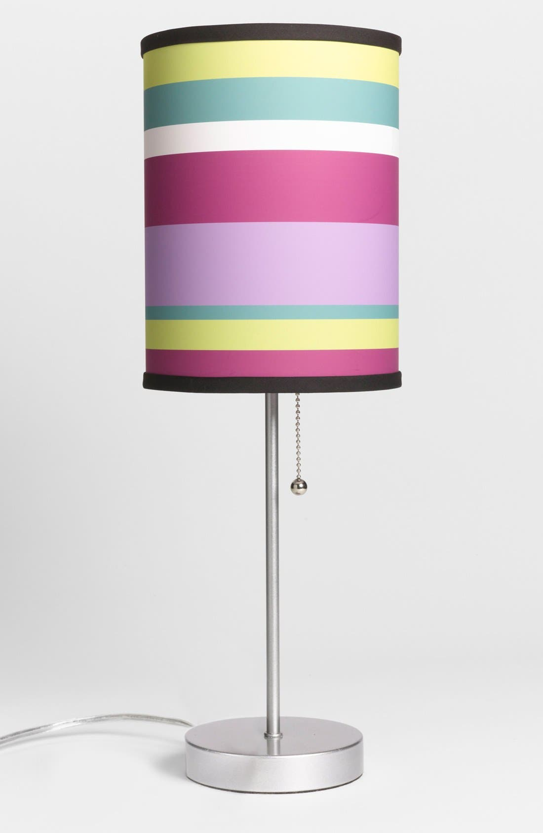 Main Image - LAMP IN A BOX Pink Striped Table Lamp