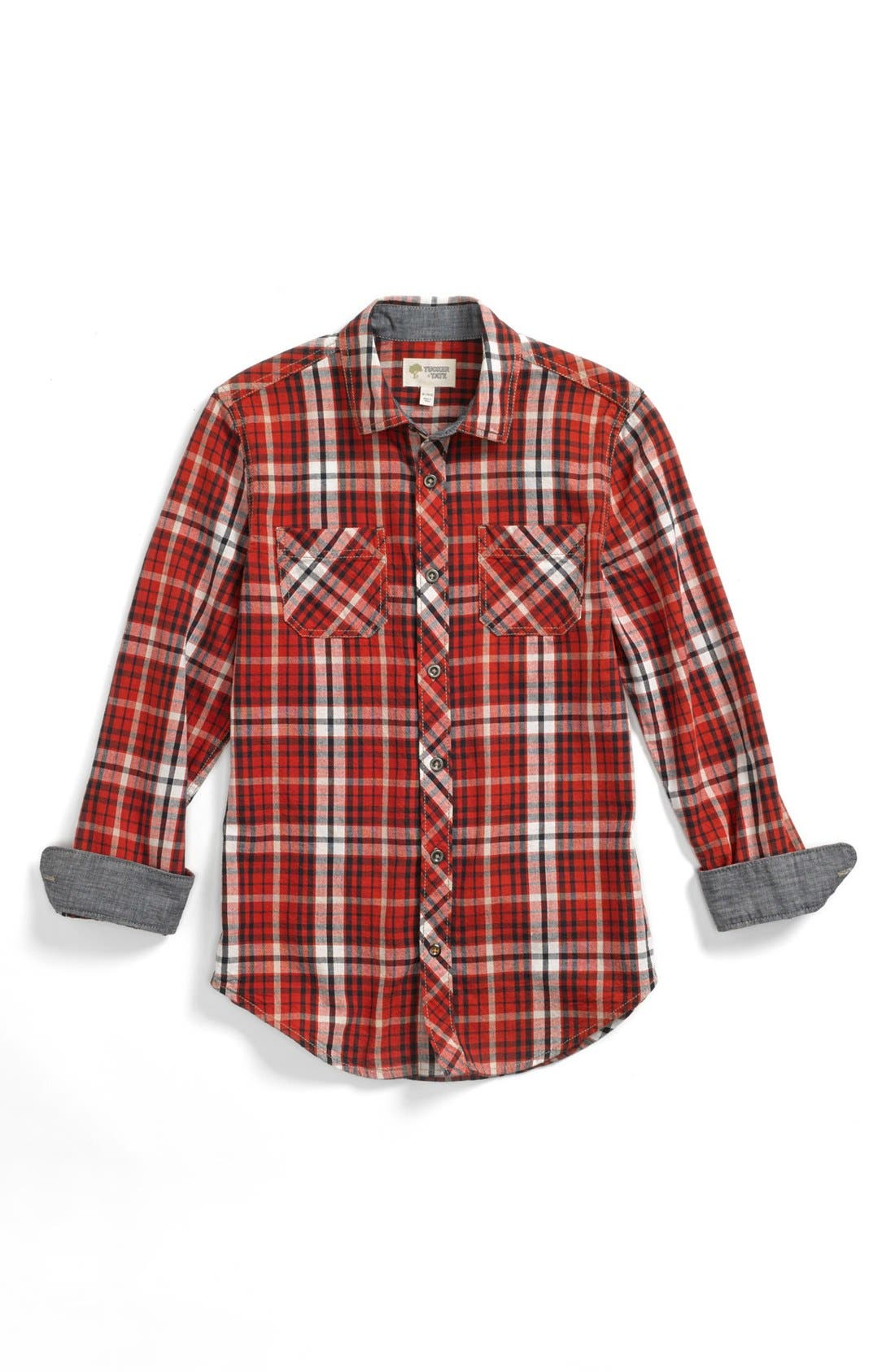 Alternate Image 1 Selected - Tucker + Tate Plaid Shirt & Jeans (Little Boys & Big Boys)