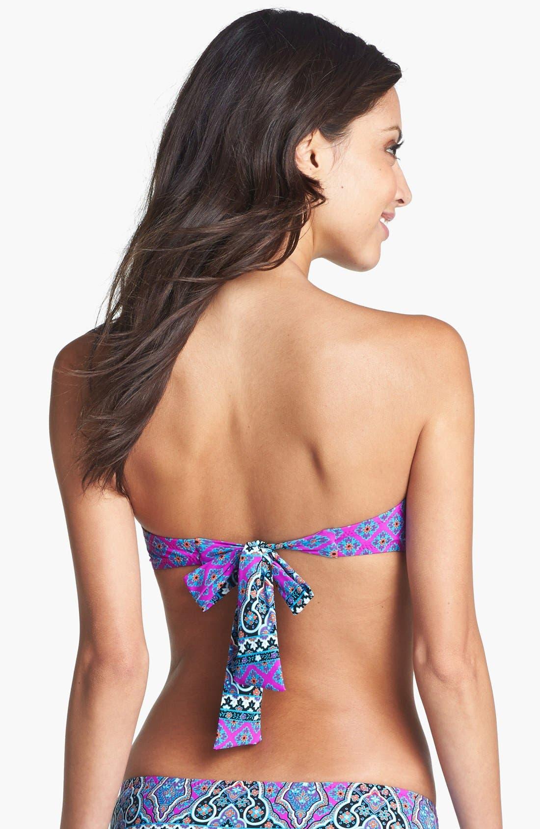 Alternate Image 2  - Nanette Lepore 'Moroccan Medallion Tease' Bandeau Bikini Top