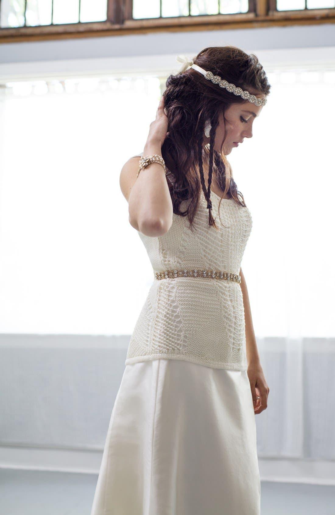 Alternate Image 4  - Nina 'Onasis' Single Row Crystal Sash Belt