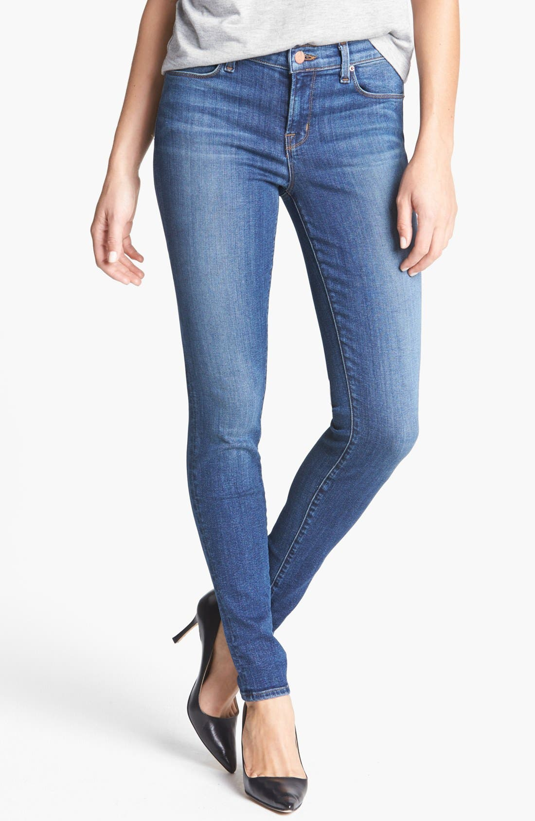Alternate Image 1 Selected - J Brand '620' Mid-Rise Skinny Jeans (Refuge)