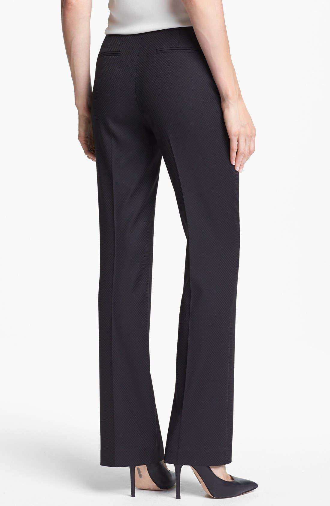 Alternate Image 2  - Halogen® 'Quinn' Jacquard Pants (Regular & Petite)