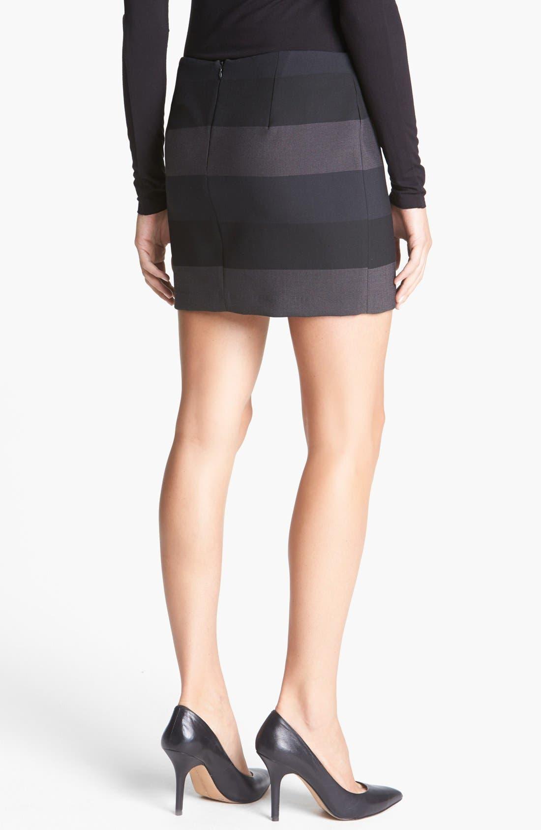 Alternate Image 2  - Bailey 44 'Foreshadowing' Stripe Miniskirt