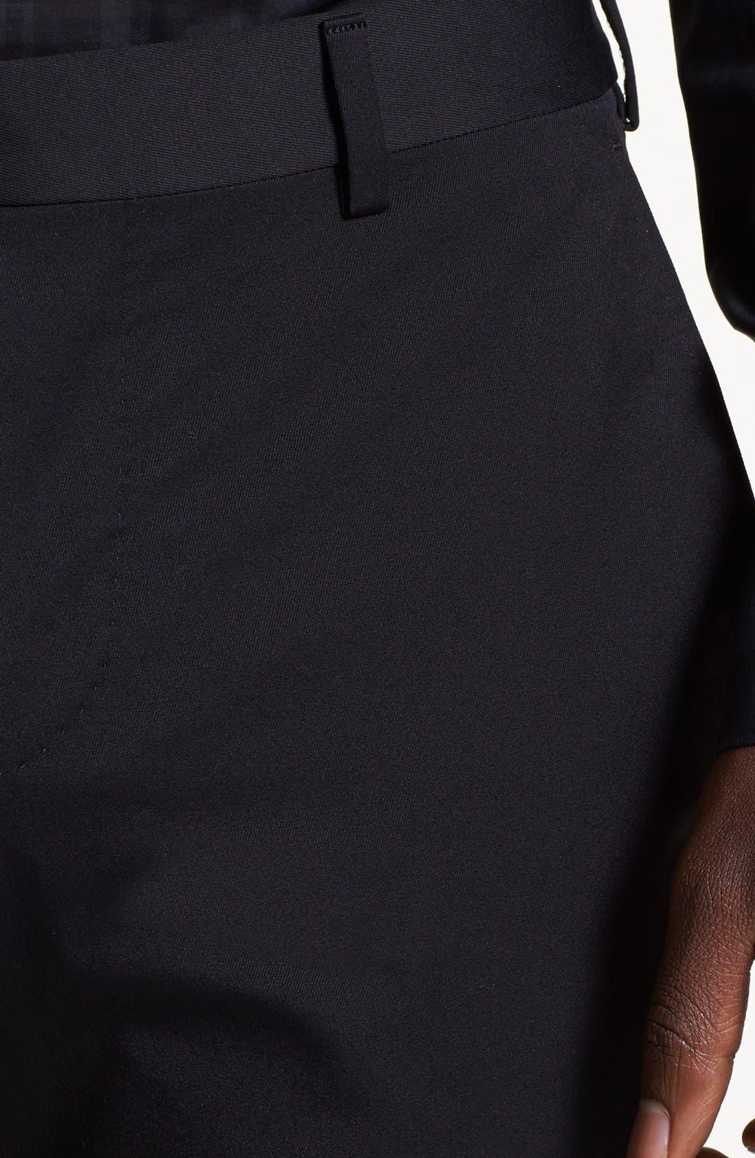 Alternate Image 4  - Z Zegna Slim Fit Gabardine Trousers