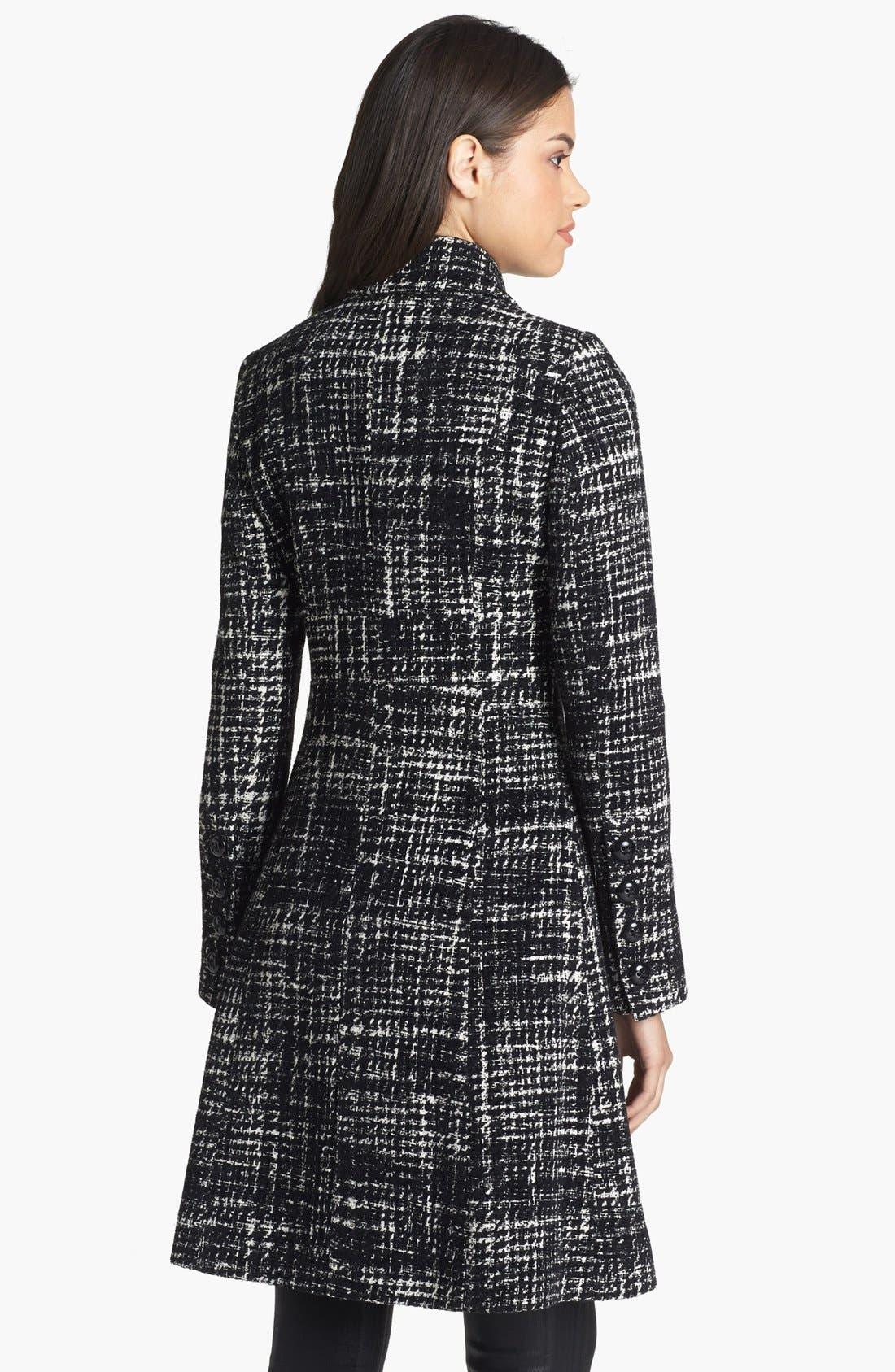 Alternate Image 2  - Dawn Levy 'Eva' Plaid Tweed Coat