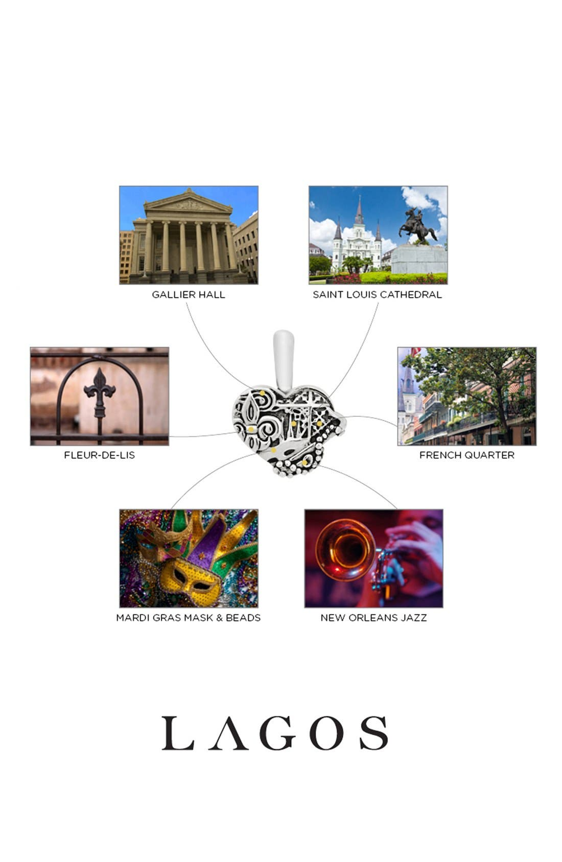 Alternate Image 2  - Lagos 'Hearts of Lagos - New Orleans' Long Pendant Necklace (Online Only)
