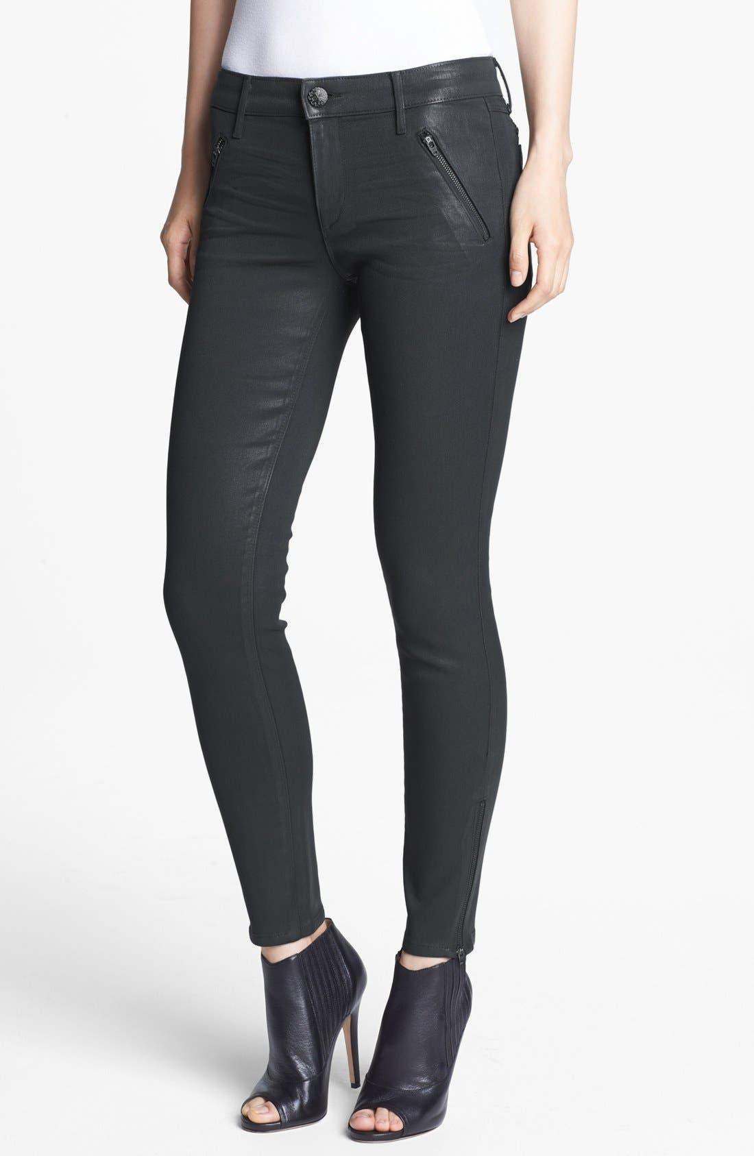Main Image - Habitual 'Amalia' Coated Skinny Jeans