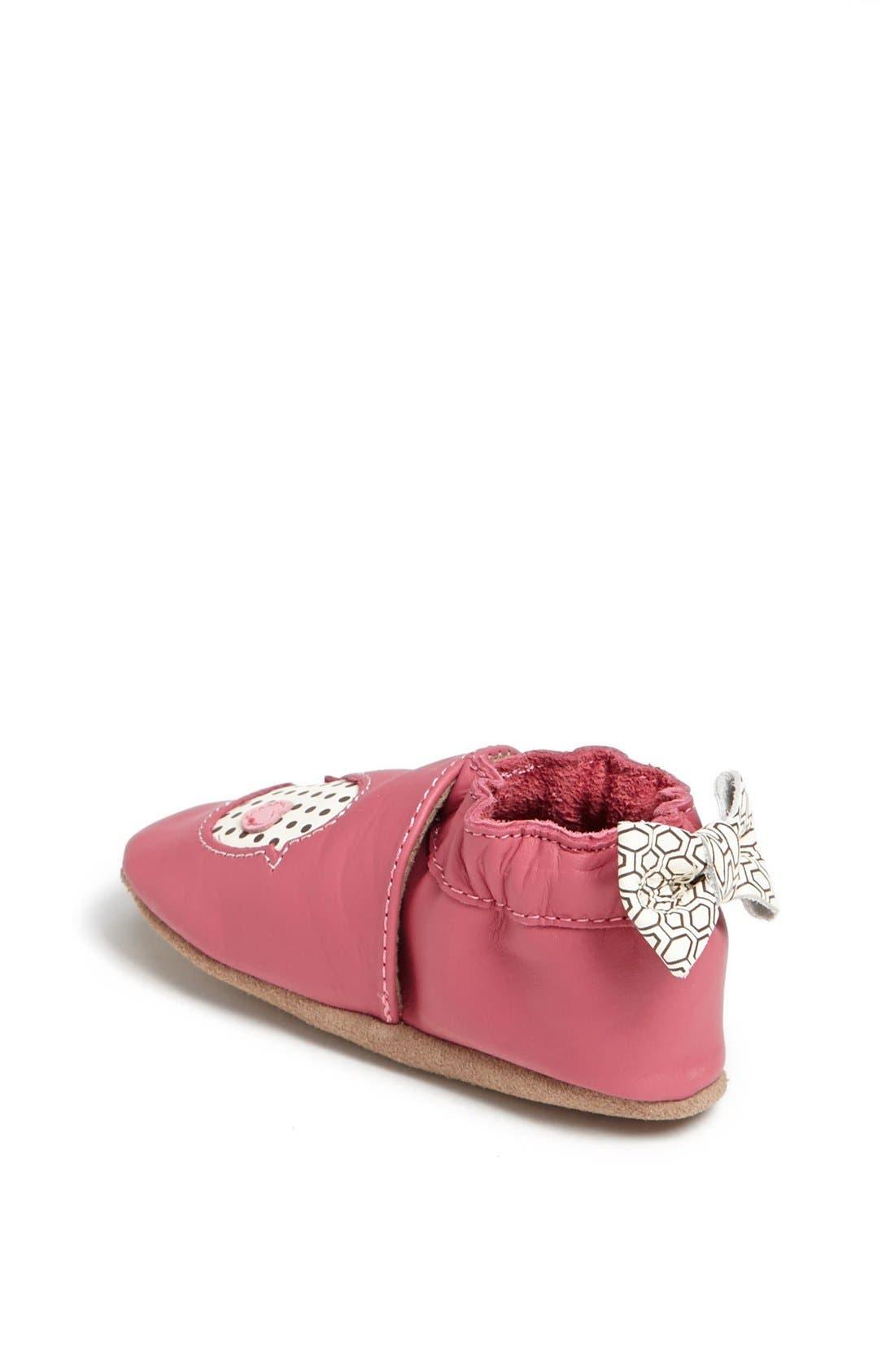 Alternate Image 2  - Robeez® 'Tweetin' Birds' Crib Shoe (Baby & Walker)