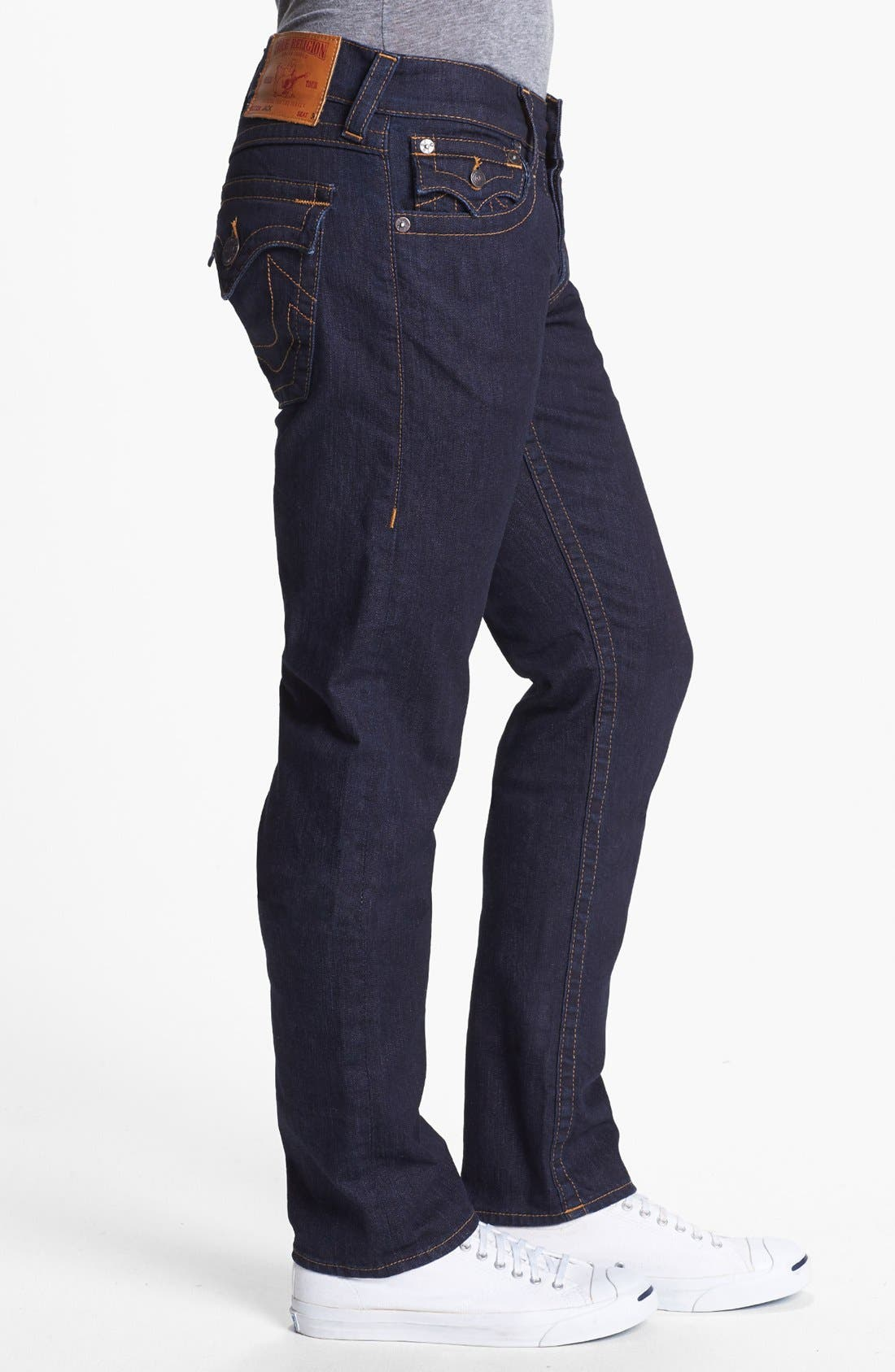 Alternate Image 3  - True Religion Brand Jeans 'Jack' Slim Fit Jeans (Midnight Blue)