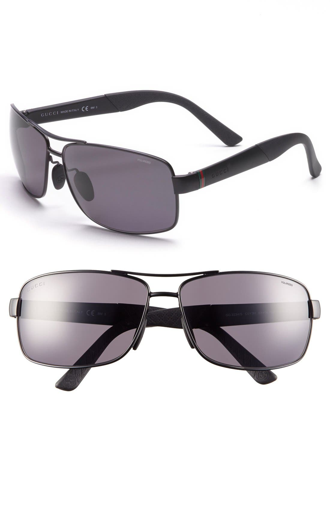 Alternate Image 1 Selected - Gucci '2234/S' 63mm Polarized Sunglasses