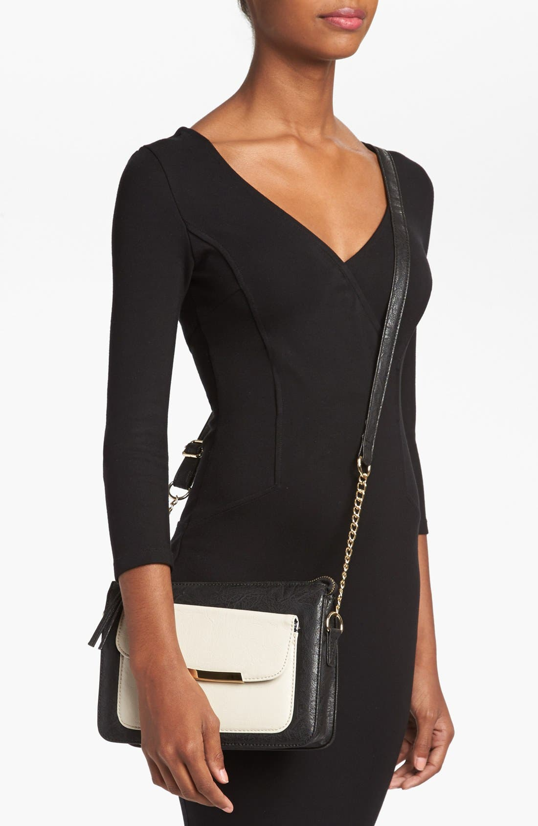 Alternate Image 2  - Cesca Faux Leather Crossbody Bag (Juniors) (Online Only)