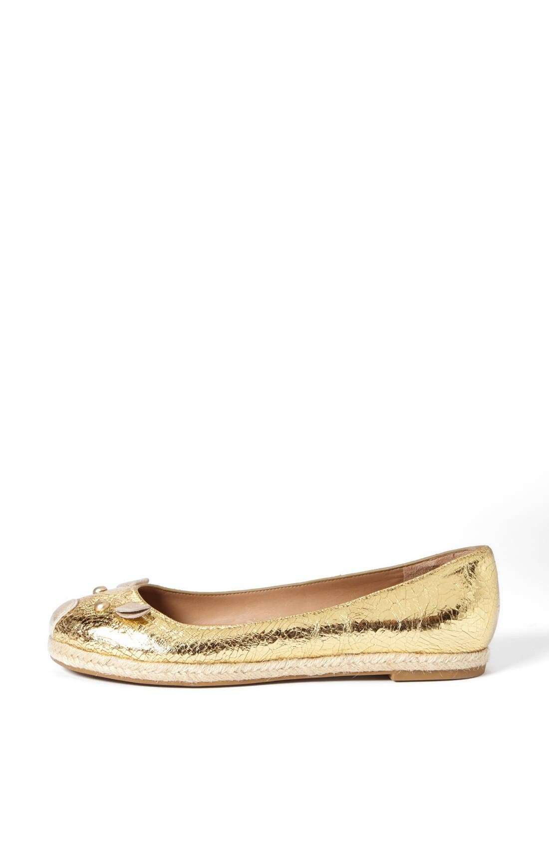 Alternate Image 4  - MARC BY MARC JACOBS 'Mouse' Metallic Calfskin Leather Espadrille Flat