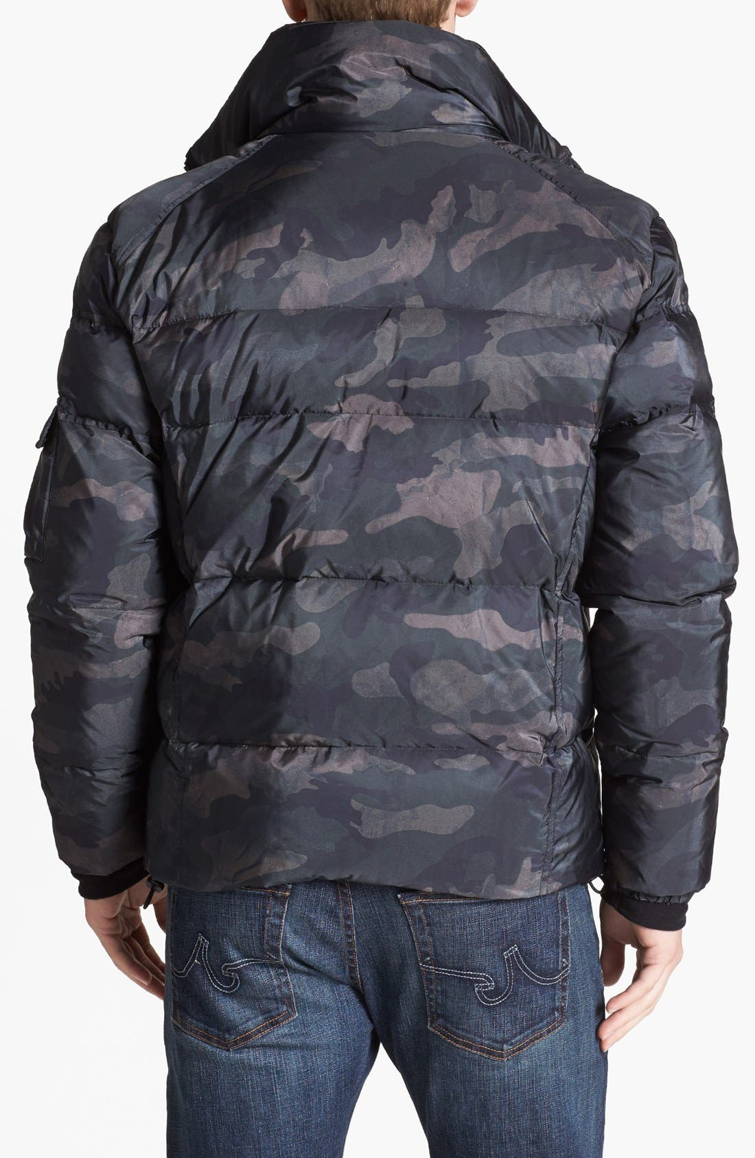 Alternate Image 2  - SAM 'Racer' Camouflage Water Resistant Puffer Jacket