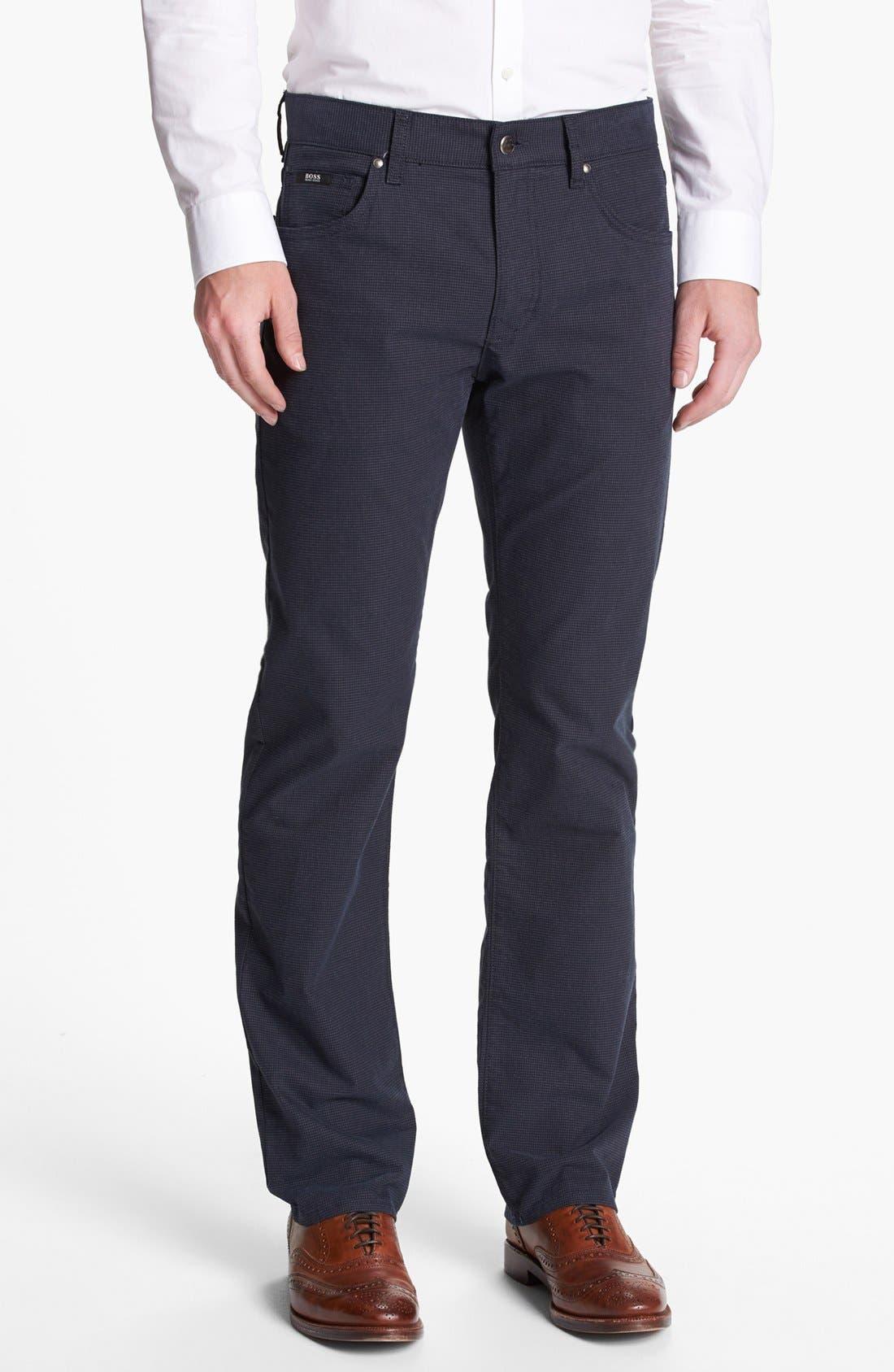 Main Image - BOSS HUGO BOSS 'Kansas' Straight Leg Pants