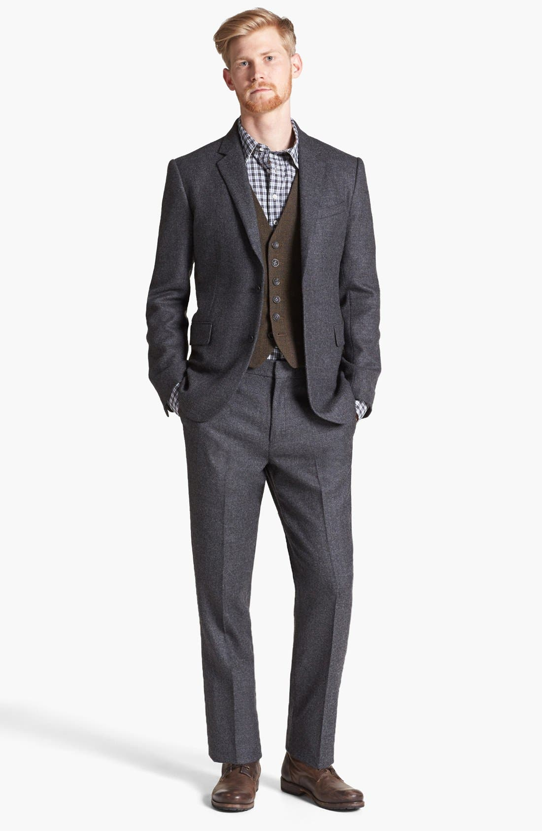 Main Image - rag & bone Trim Fit Wool Suit