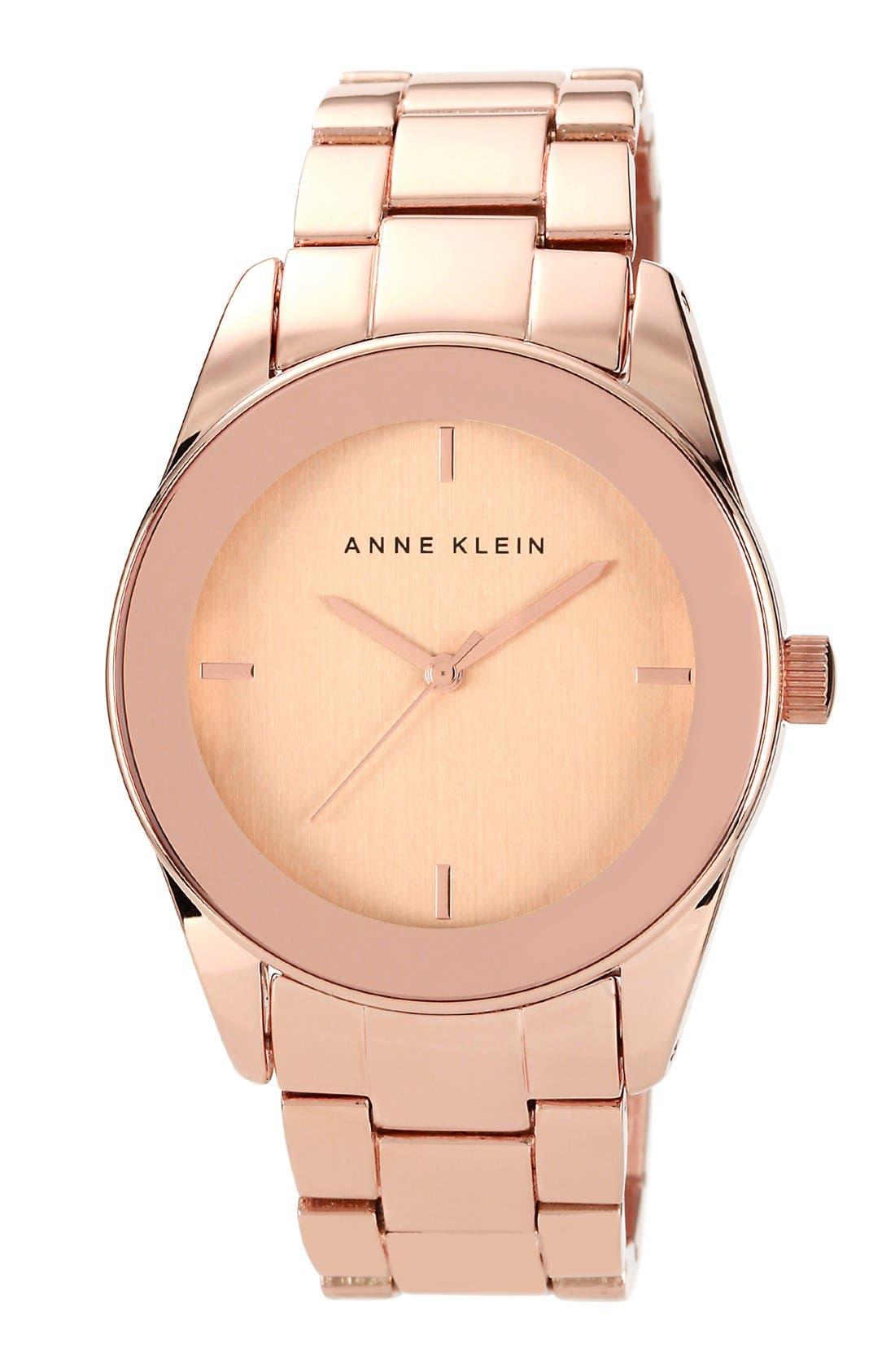 Main Image - Anne Klein Round Bracelet Watch, 38mm