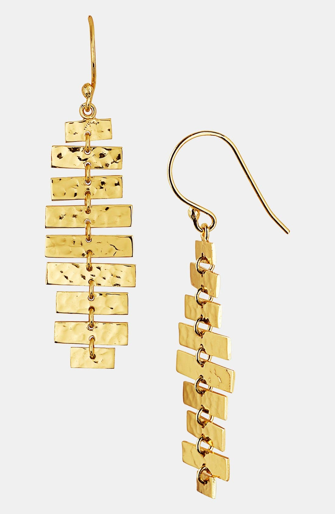 Alternate Image 1 Selected - Argento Vivo 'Sunray' Hammered Drop Earrings