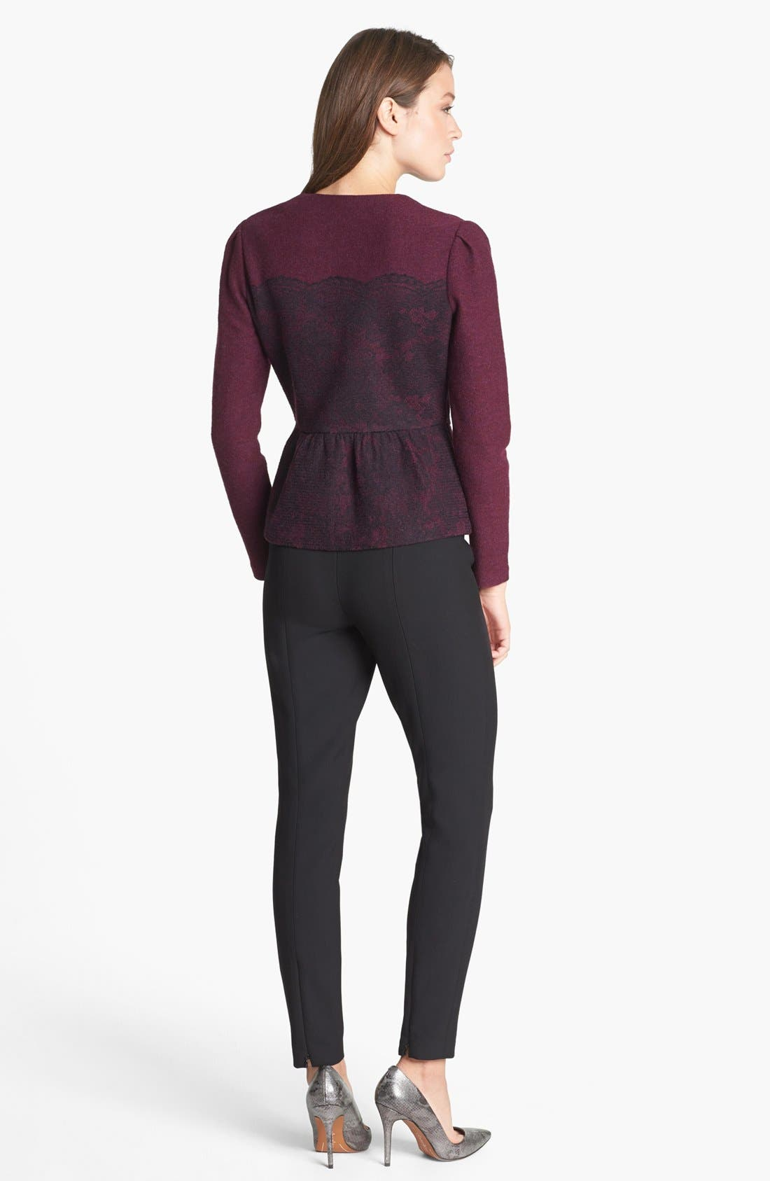 Alternate Image 4  - Classiques Entier® Merino & Lace Zip Cardigan