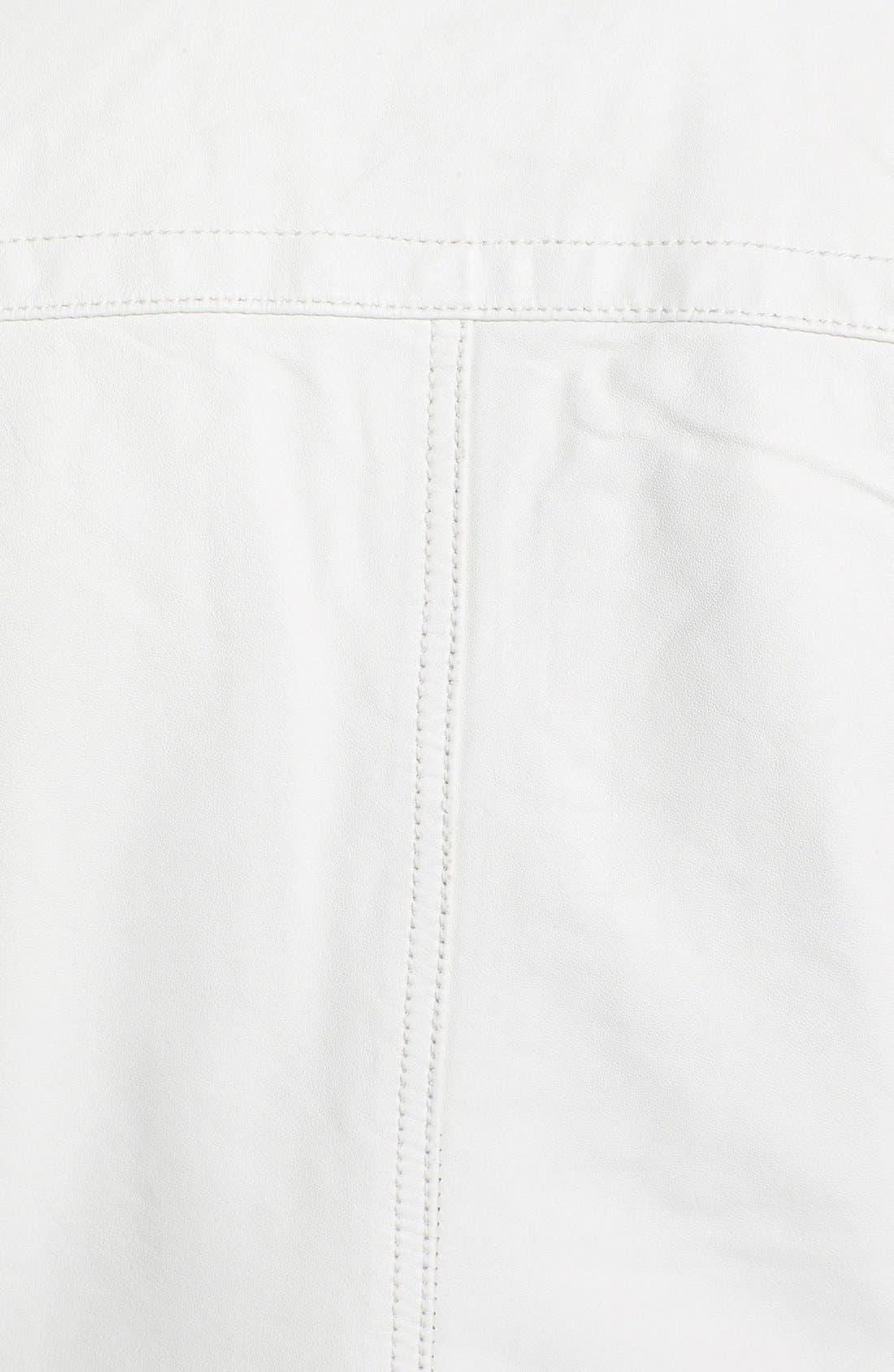 Alternate Image 3  - Q40 'Military' Leather Jacket