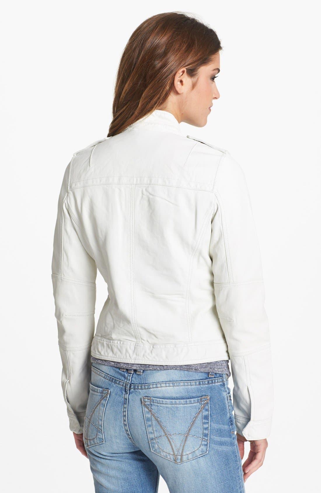 Alternate Image 2  - Q40 'Military' Leather Jacket