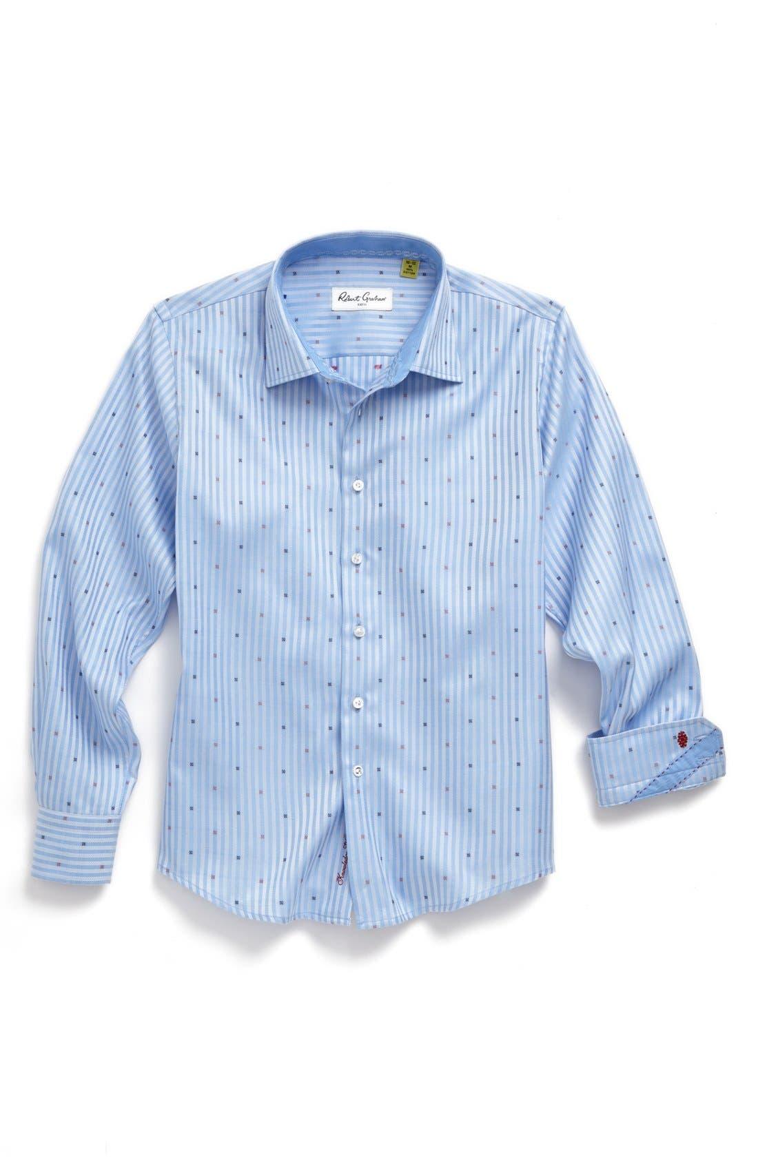 Alternate Image 1 Selected - Robert Graham Stripe Dress Shirt (Big Boys)