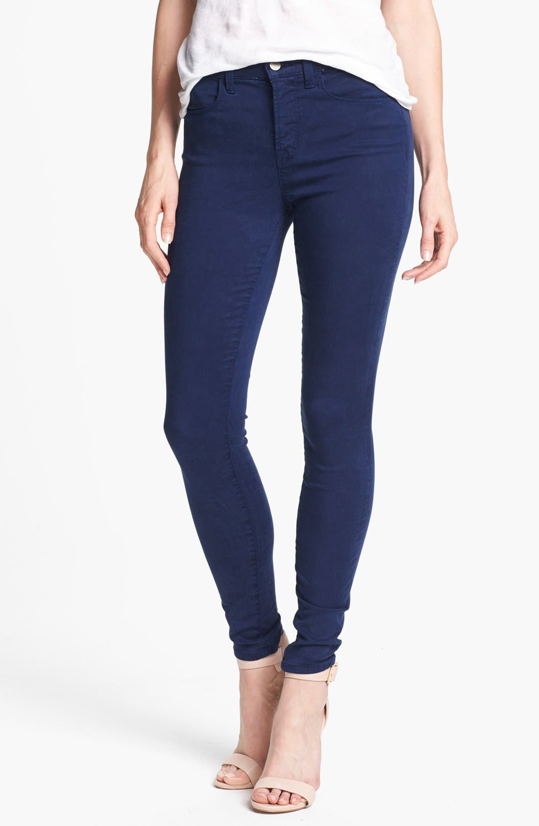 Main Image - J Brand 'Maria 2311' High Rise Skinny Jeans (Blueberry)