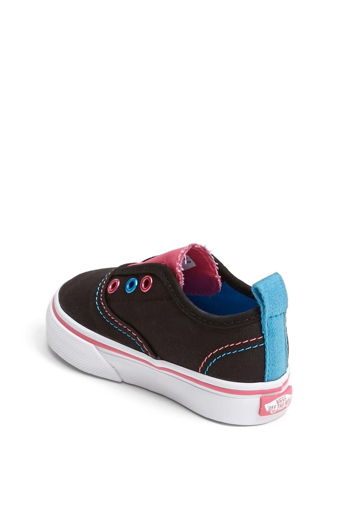 Alternate Image 2  - Vans 'Authentic V' Sneaker (Baby, Walker & Toddler)