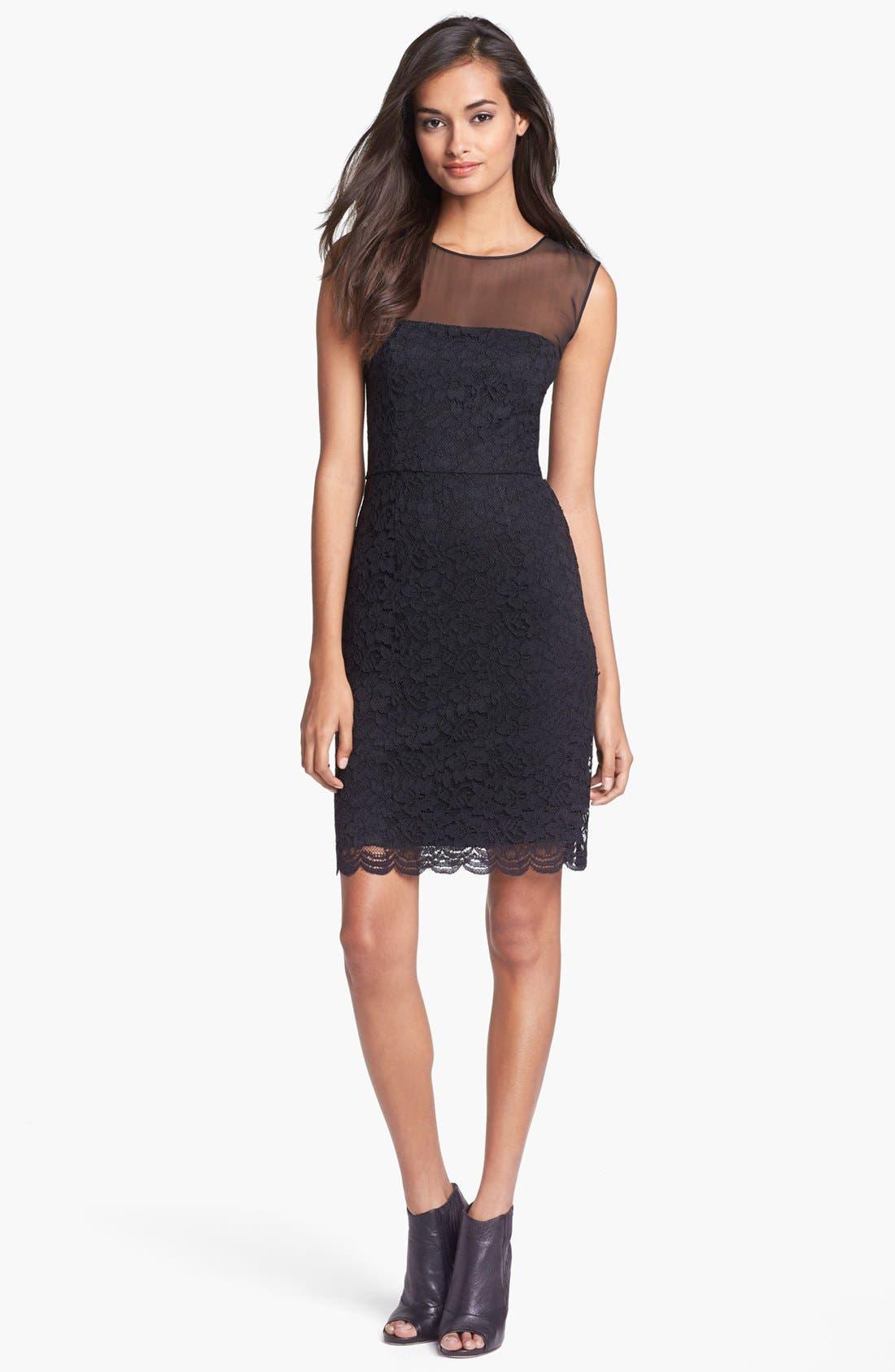 Main Image - Diane von Furstenberg 'Nisha' Lace Sheath Dress