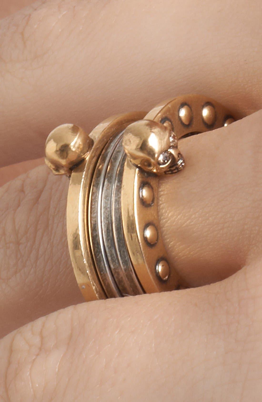 Alternate Image 2  - Alexander McQueen 'God Save McQueen' Ring