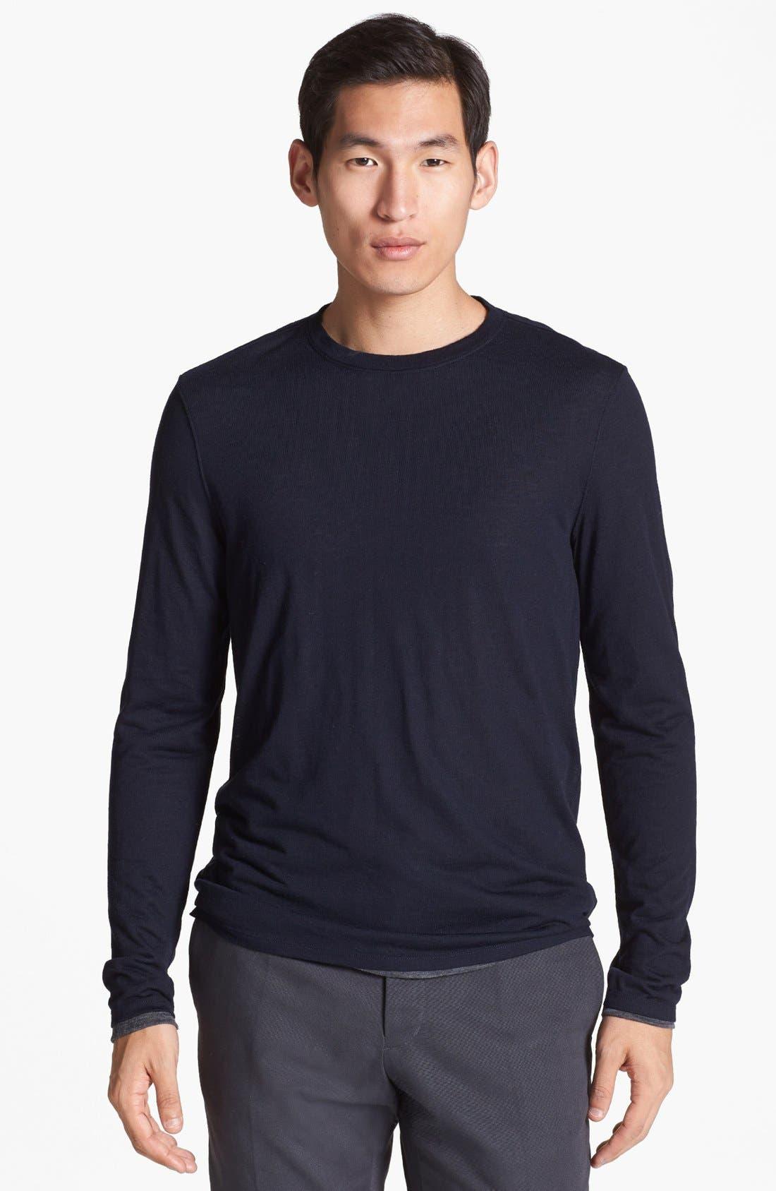 Alternate Image 1 Selected - Vince Double Layer Reversible Crewneck T-Shirt