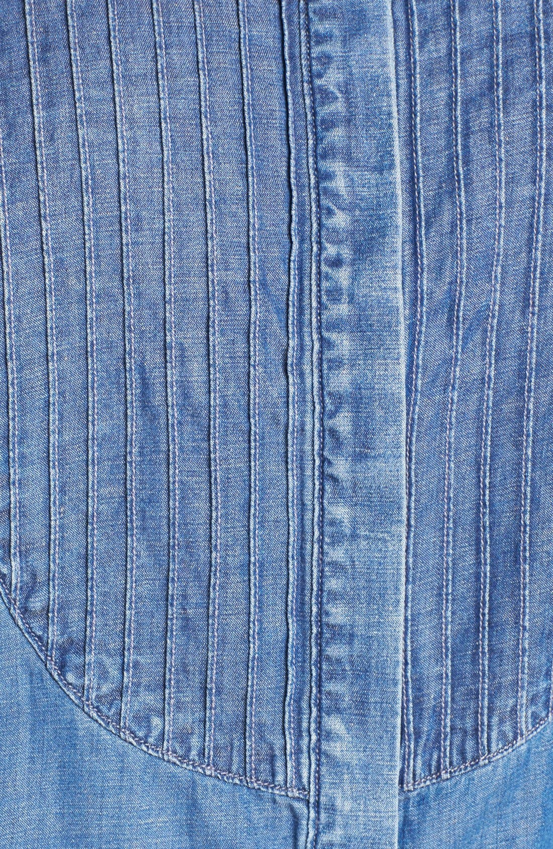 Alternate Image 3  - Lucky Brand Chambray Tuxedo Shirt (Plus Size)