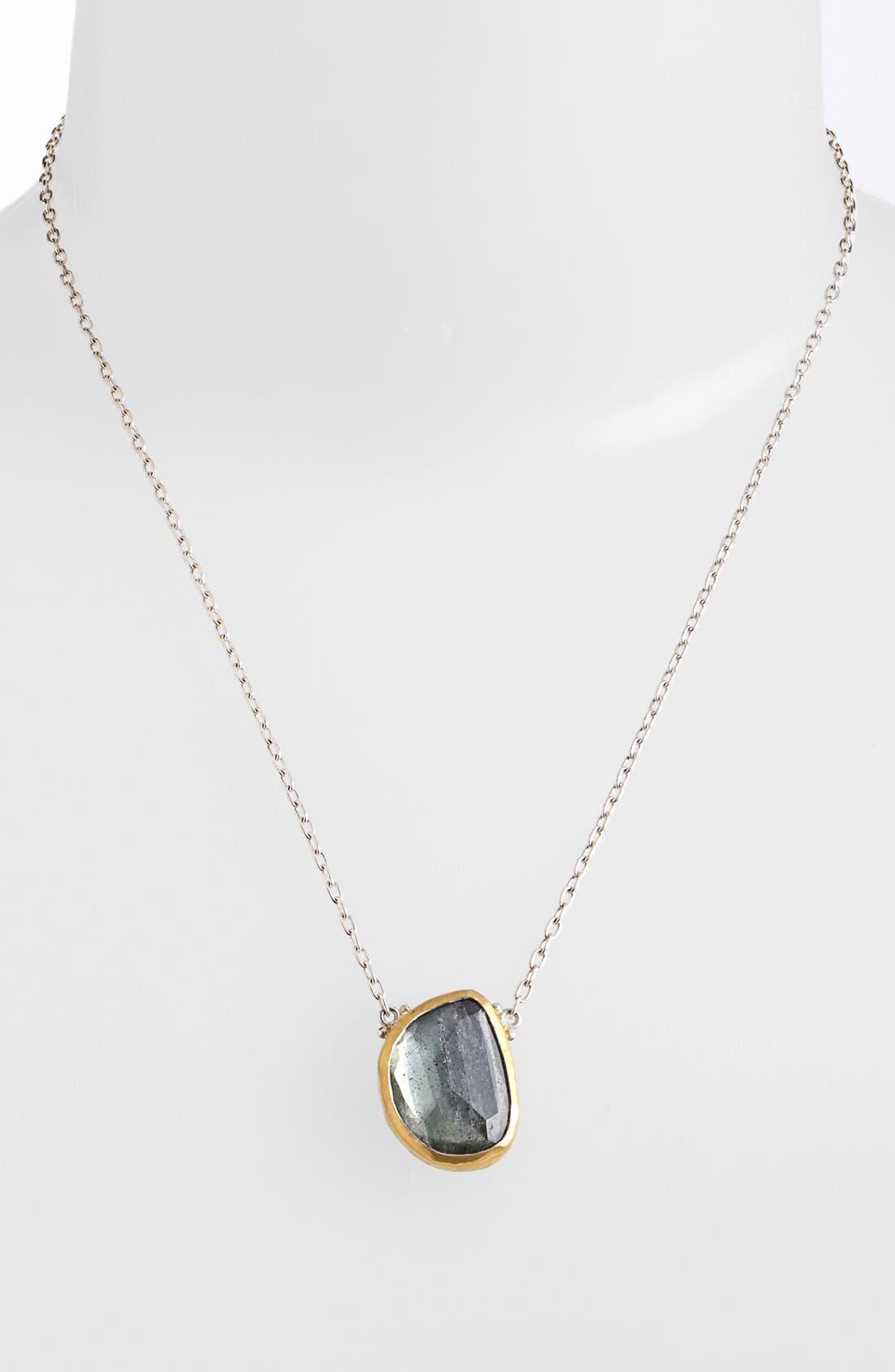 Main Image - Gurhan 'Elements' Moss Aquamarine Pendant Necklace