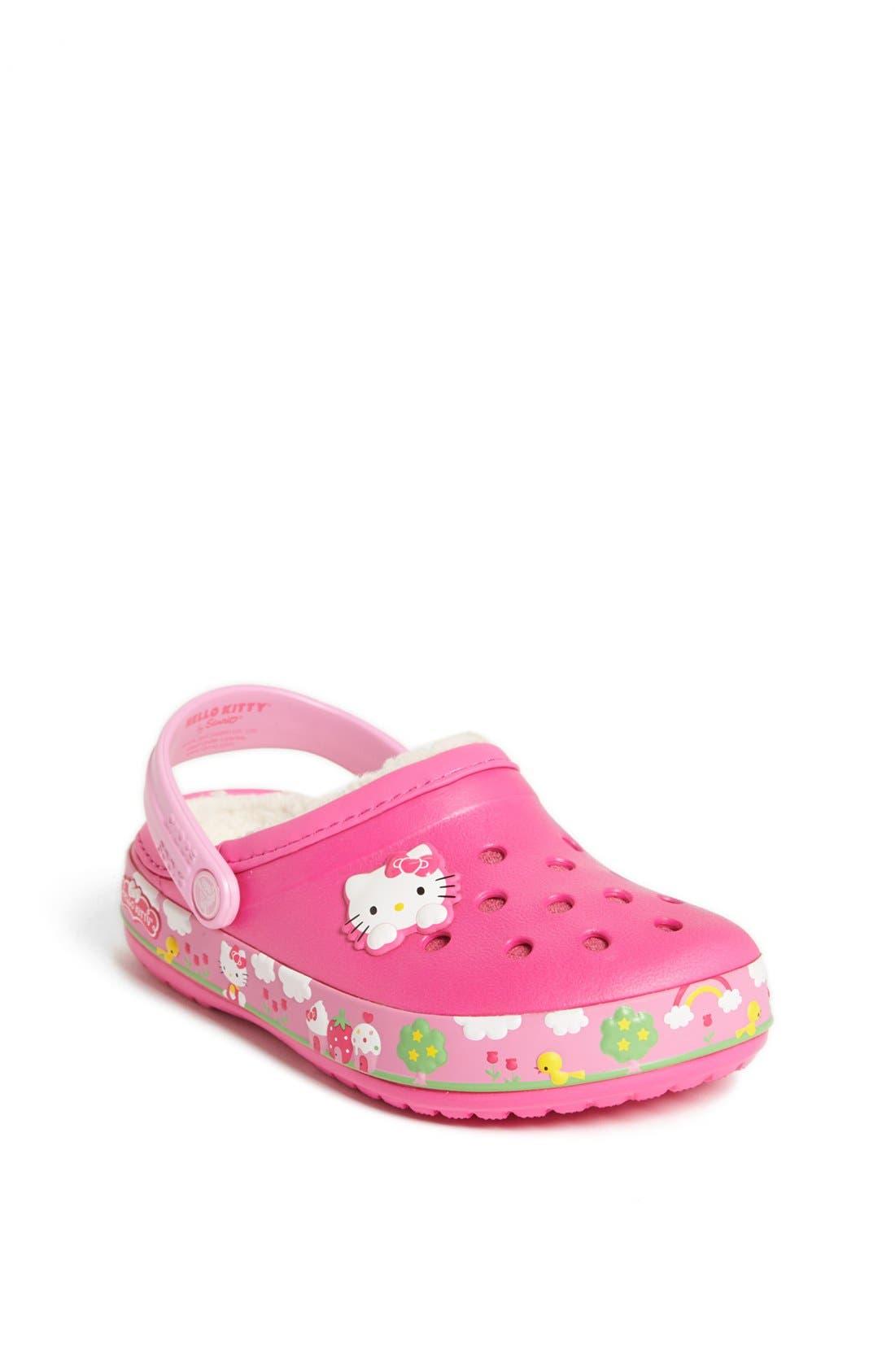 Main Image - CROCS™ 'Mammoth - Hello Kitty®' Clog (Walker & Toddler)