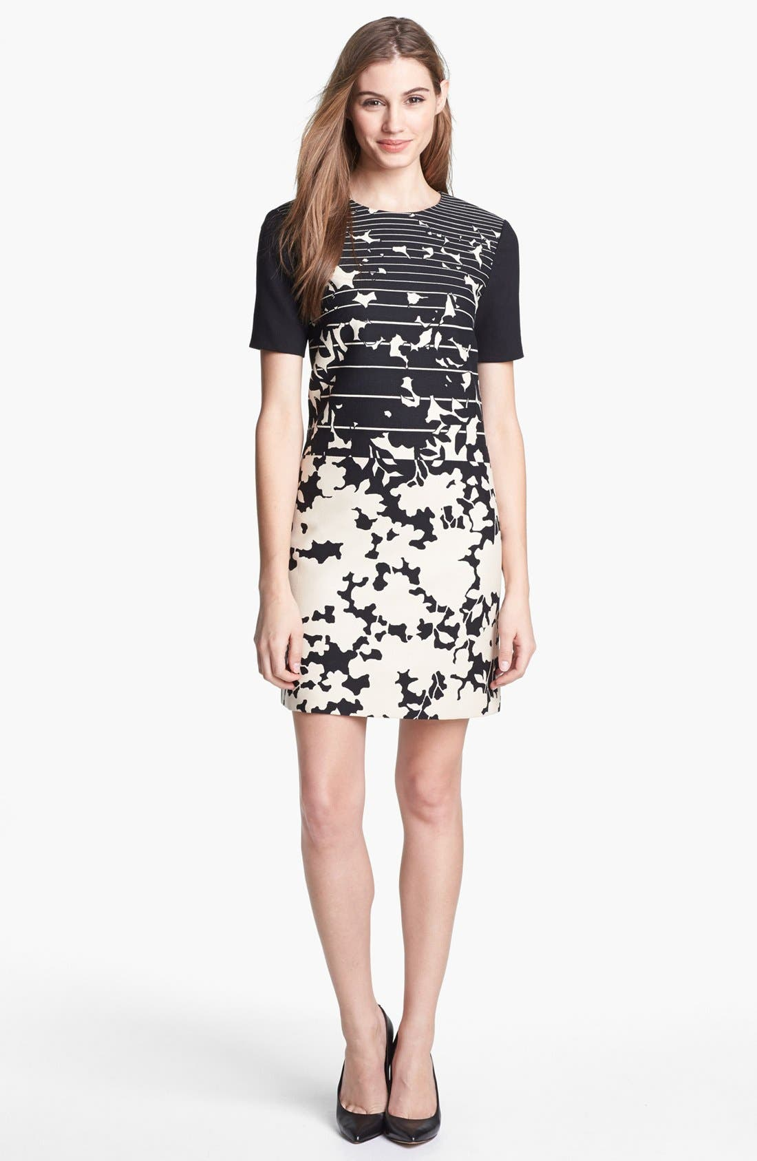Alternate Image 1 Selected - 4.collective Print Short Sleeve Shift Dress
