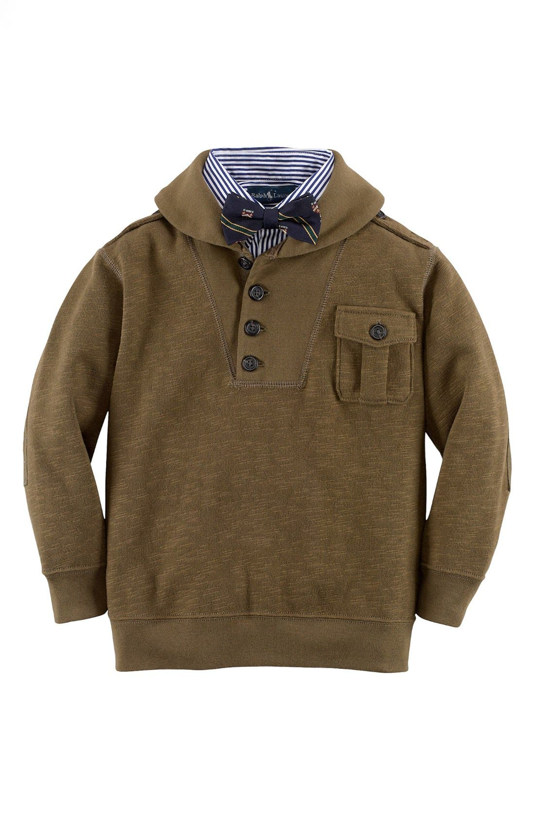 Alternate Image 2  - Ralph Lauren Shawl Collar Pullover (Toddler Boys)