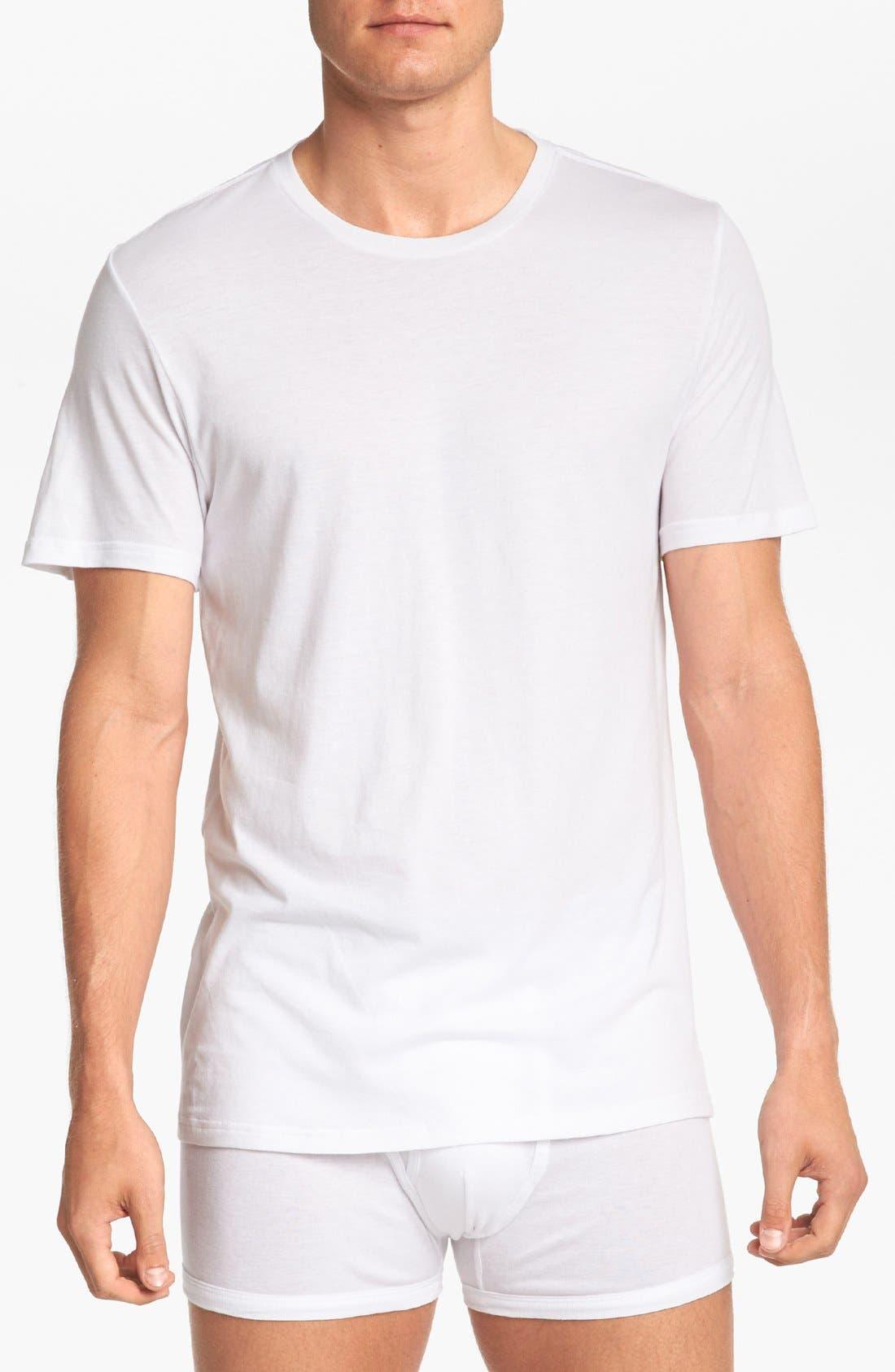 Main Image - Michael Kors 'Soft Touch' Crewneck T-Shirt (3-Pack)
