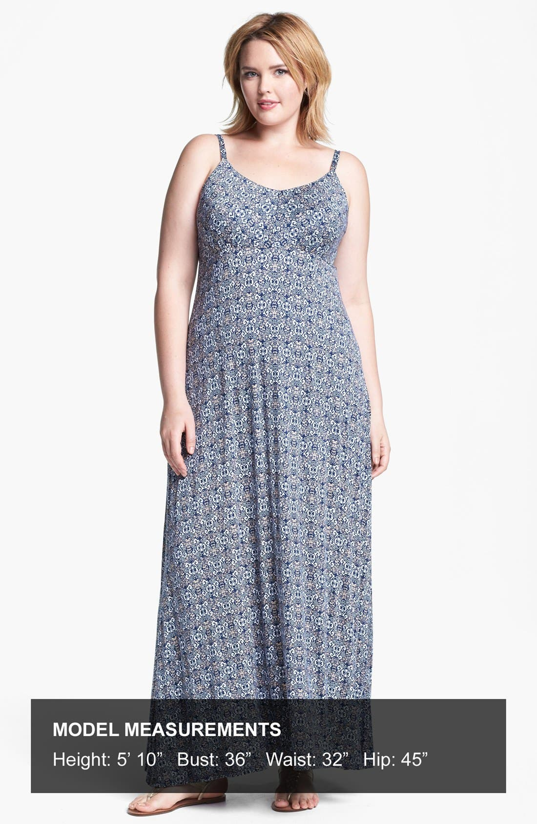 Alternate Image 4  - Olivia Moon Print Maxi Dress (Plus Size)